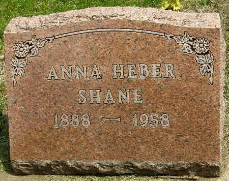 HEBER SHANE, ANNA - Black Hawk County, Iowa   ANNA HEBER SHANE