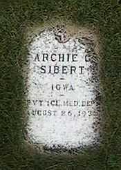 SIBERT, ARCHIE - Black Hawk County, Iowa   ARCHIE SIBERT