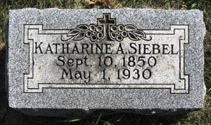 SIEBEL, KATHARINE ANNA - Black Hawk County, Iowa | KATHARINE ANNA SIEBEL