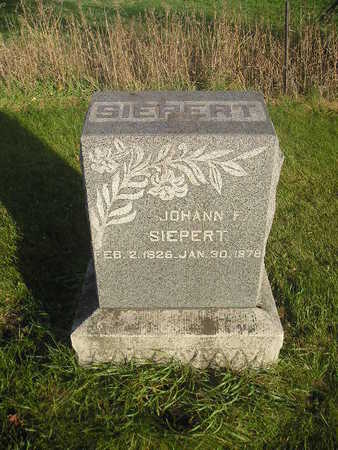 SIEPERT, JOHANN F - Black Hawk County, Iowa | JOHANN F SIEPERT