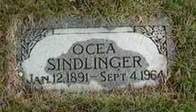 SINDLINGER, OCEA - Black Hawk County, Iowa   OCEA SINDLINGER