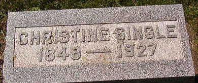 SINGLE, CHRISTINE - Black Hawk County, Iowa   CHRISTINE SINGLE