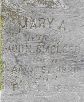 SMELSER, MARY A. - Black Hawk County, Iowa   MARY A. SMELSER