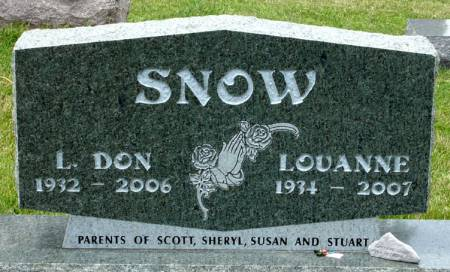 SNOW, L. DON - Black Hawk County, Iowa | L. DON SNOW