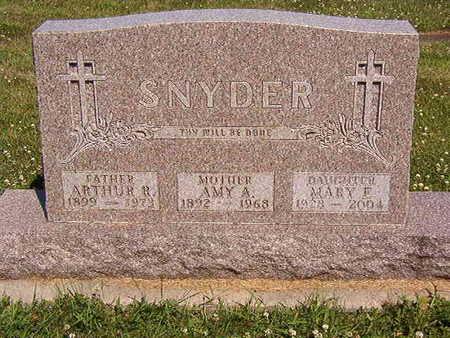 SNYDER, MARY F. - Black Hawk County, Iowa | MARY F. SNYDER