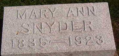 SNYDER, MARY ANN - Black Hawk County, Iowa | MARY ANN SNYDER