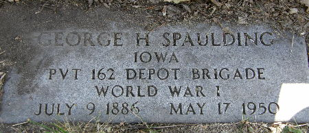 SPAULDING, GEORGE H. - Black Hawk County, Iowa | GEORGE H. SPAULDING