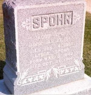 SPOHR, LYDIA - Black Hawk County, Iowa | LYDIA SPOHR
