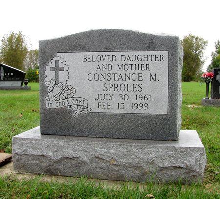 SPROLES, CONSTANCE M. - Black Hawk County, Iowa   CONSTANCE M. SPROLES