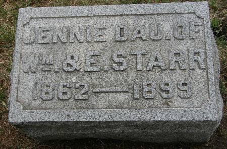STARR, JENNIE - Black Hawk County, Iowa | JENNIE STARR