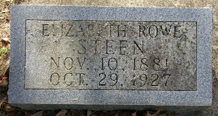 ROWE STEEN, ELIZABETH - Black Hawk County, Iowa | ELIZABETH ROWE STEEN