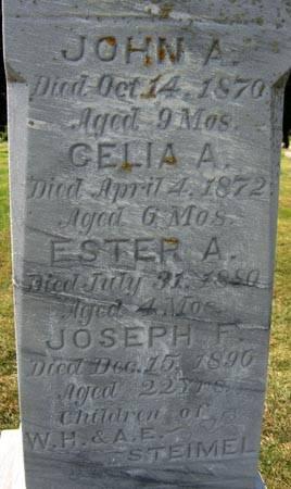 STEIMEL, JOSEPH F. - Black Hawk County, Iowa | JOSEPH F. STEIMEL