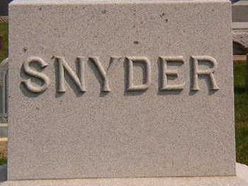 STONE, SNYDER FAMILY - Black Hawk County, Iowa | SNYDER FAMILY STONE
