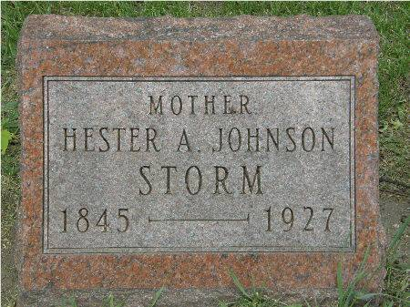 JOHNSON STORM, HESTER A. - Black Hawk County, Iowa | HESTER A. JOHNSON STORM