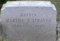 STRAYER, MARTHA - Black Hawk County, Iowa   MARTHA STRAYER