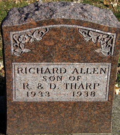 THARP, RICHARD ALLEN - Black Hawk County, Iowa | RICHARD ALLEN THARP
