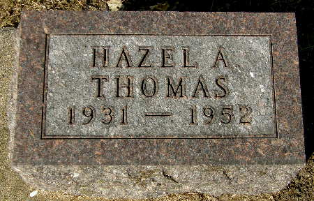 THOMAS, HAZEL A. - Black Hawk County, Iowa | HAZEL A. THOMAS
