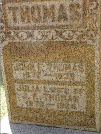 THOMAS, JOHN F. - Black Hawk County, Iowa | JOHN F. THOMAS