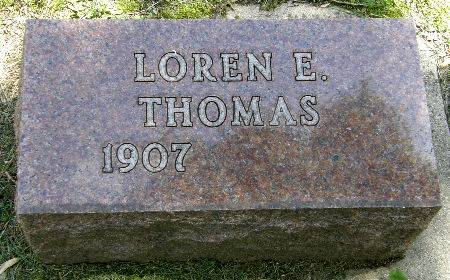 THOMAS, LOREN E. - Black Hawk County, Iowa   LOREN E. THOMAS