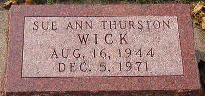 THURSTON WICK, SUE ANN - Black Hawk County, Iowa | SUE ANN THURSTON WICK