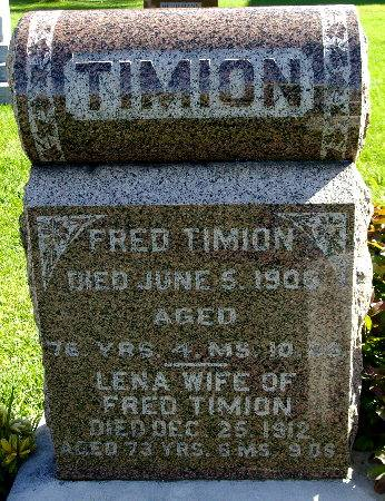 TIMION, FRED - Black Hawk County, Iowa | FRED TIMION