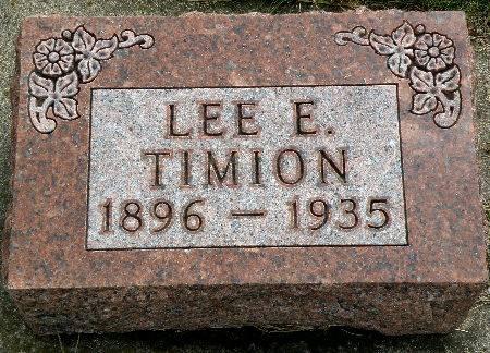 TIMION, LEE E. - Black Hawk County, Iowa   LEE E. TIMION