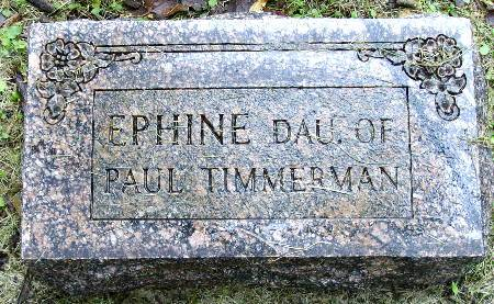 TIMMERMAN, EPHINE - Black Hawk County, Iowa | EPHINE TIMMERMAN