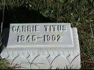 TITUS, CARRIE - Black Hawk County, Iowa   CARRIE TITUS
