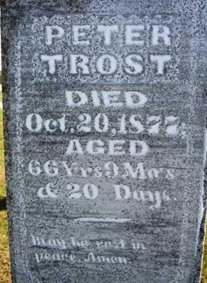 TROST, PETER - Black Hawk County, Iowa | PETER TROST