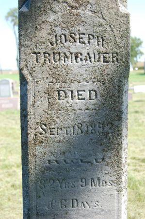 TRUMBAUER, JOSEPH - Black Hawk County, Iowa   JOSEPH TRUMBAUER