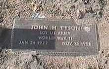 TYSON, JOHN H. - Black Hawk County, Iowa | JOHN H. TYSON