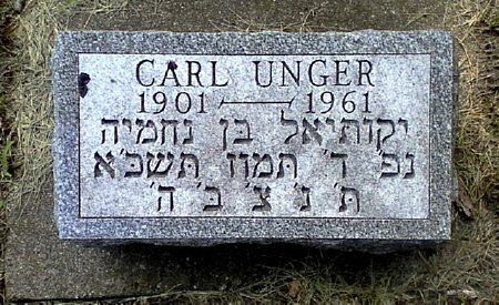 UNGER, CARL - Black Hawk County, Iowa | CARL UNGER