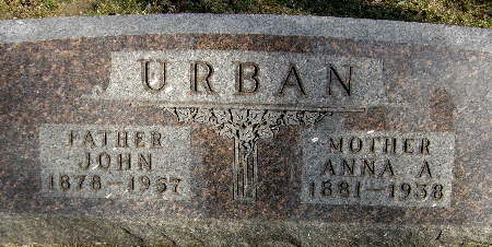 URBAN, ANNA A. - Black Hawk County, Iowa | ANNA A. URBAN