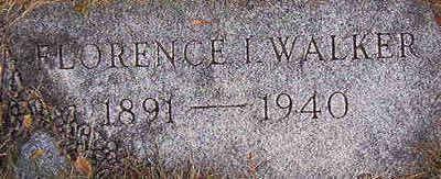 WALKER, FLORENCE I. - Black Hawk County, Iowa   FLORENCE I. WALKER