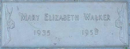 NOT KNOWN WALKER, MARY ELIZABETH - Black Hawk County, Iowa   MARY ELIZABETH NOT KNOWN WALKER
