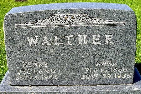 WALTHER, ANNA - Black Hawk County, Iowa | ANNA WALTHER