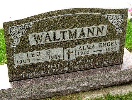 ENGEL WALTMANN, ALMA - Black Hawk County, Iowa   ALMA ENGEL WALTMANN