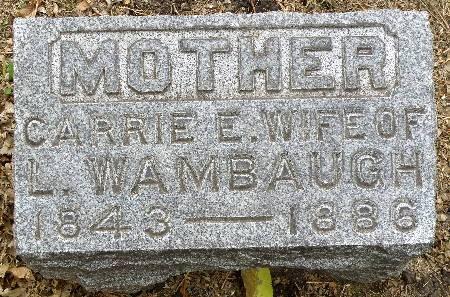 WAMBAUGH, CARRIE E. - Black Hawk County, Iowa | CARRIE E. WAMBAUGH