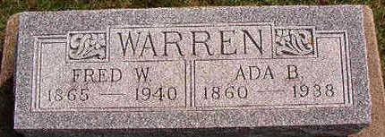 WARREN, FRED W. - Black Hawk County, Iowa   FRED W. WARREN