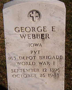 WEBBER, GEORGE E. - Black Hawk County, Iowa | GEORGE E. WEBBER