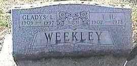 WEEKLEY, GLADYS L. - Black Hawk County, Iowa | GLADYS L. WEEKLEY