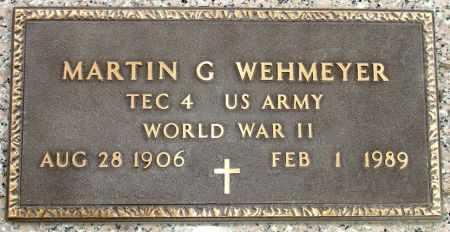 WEHMEYER, MARTIN G. - Black Hawk County, Iowa | MARTIN G. WEHMEYER
