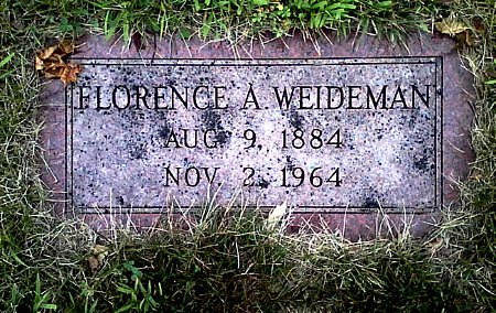 WEIDEMAN, FLORENCE A. - Black Hawk County, Iowa | FLORENCE A. WEIDEMAN