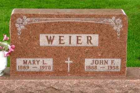 WEIER, JOHN F. - Black Hawk County, Iowa | JOHN F. WEIER