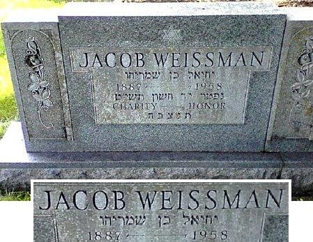WEISSMAN, JACOB - Black Hawk County, Iowa | JACOB WEISSMAN