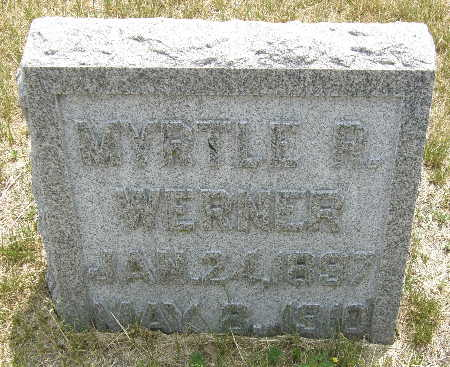WERNER, MYRTLE R. - Black Hawk County, Iowa   MYRTLE R. WERNER