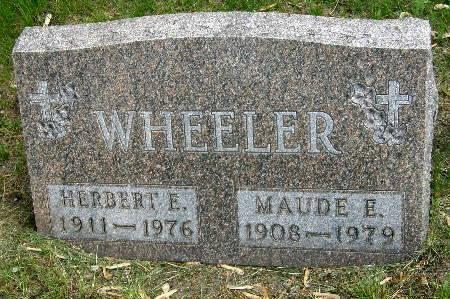 WHEELER, MAUDE E. - Black Hawk County, Iowa | MAUDE E. WHEELER