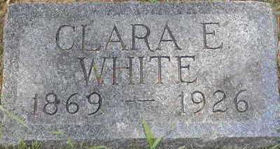 WHITE, CLARA E. - Black Hawk County, Iowa | CLARA E. WHITE