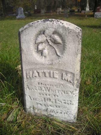 WHITNEY, HATTIE - Black Hawk County, Iowa | HATTIE WHITNEY