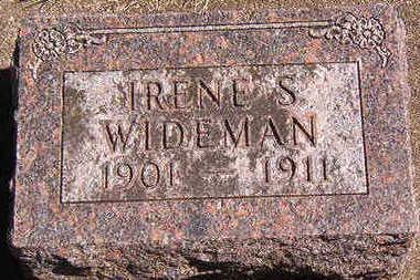WIDEMAN, IRENE S. - Black Hawk County, Iowa   IRENE S. WIDEMAN